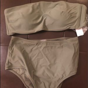 Olive Green Bathing Suit